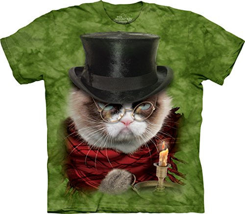 The Mountain Grumpy Cat Grumpenezer Scrooge Christmas Short Sleeve Holiday T-Shirt