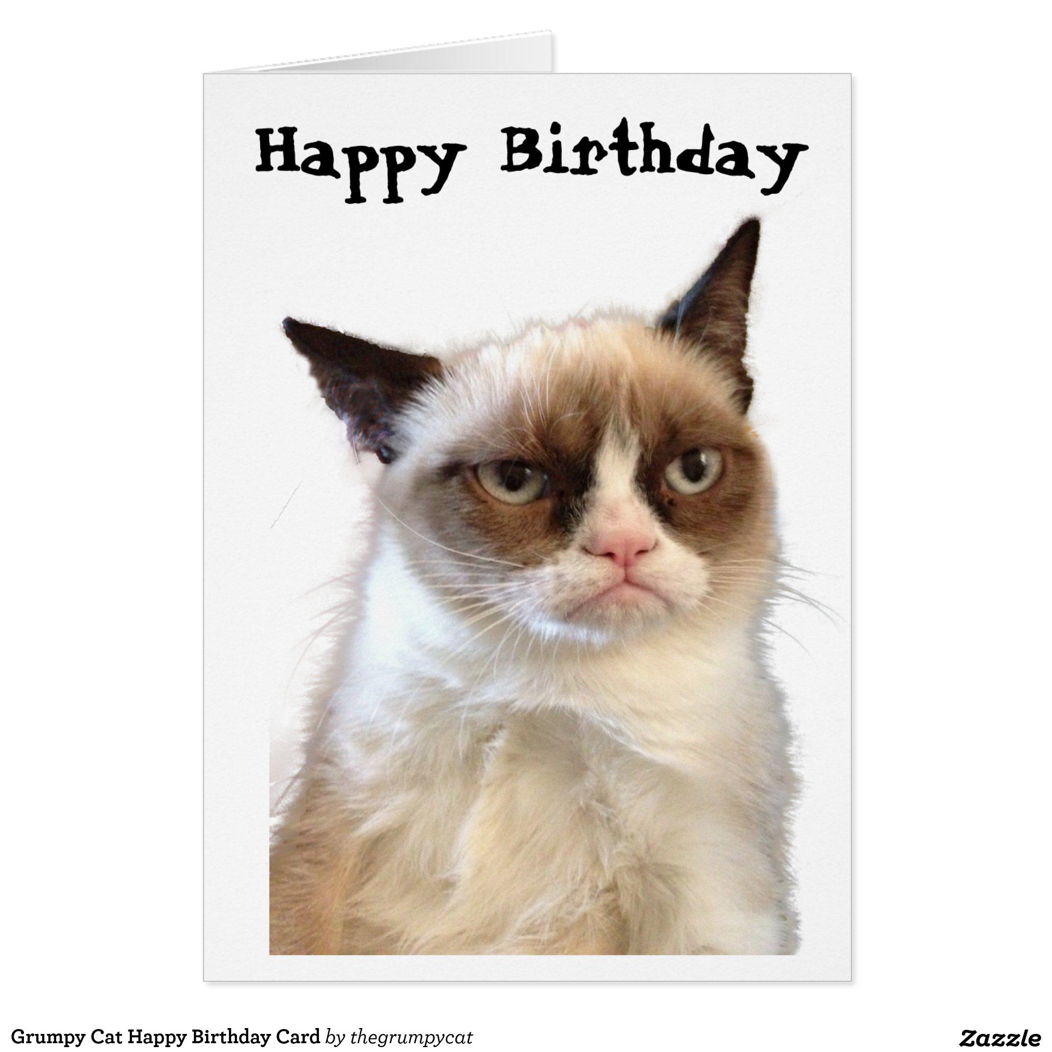 Grumpy Cat Happy Birthday Card – Birthday Cards Cats