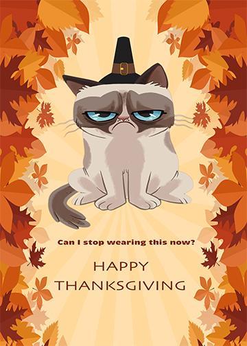 Grumpy Thanksgiving - Doorfoto Door Decor