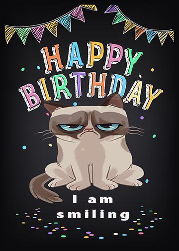 Grumpy Cat Birthday Meme - Doorfoto Door Decor