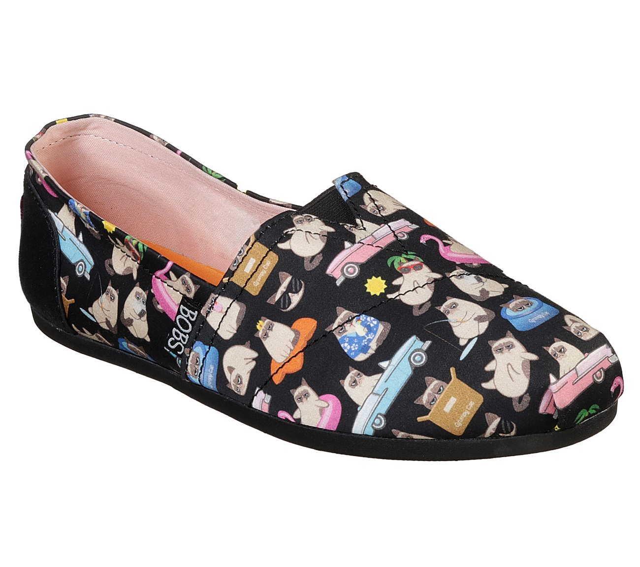 Skechers Grumpy Cat x BOBS Plush - Grumpy Vacay Shoes