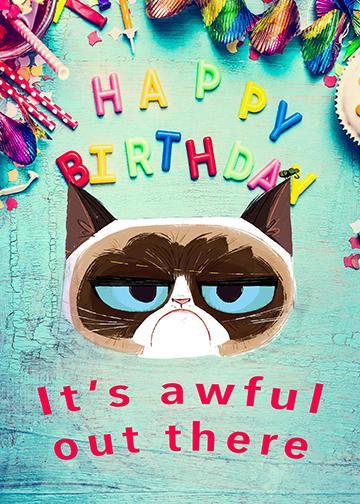 Grumpy Cat Birthday - Doorfoto Door Decor