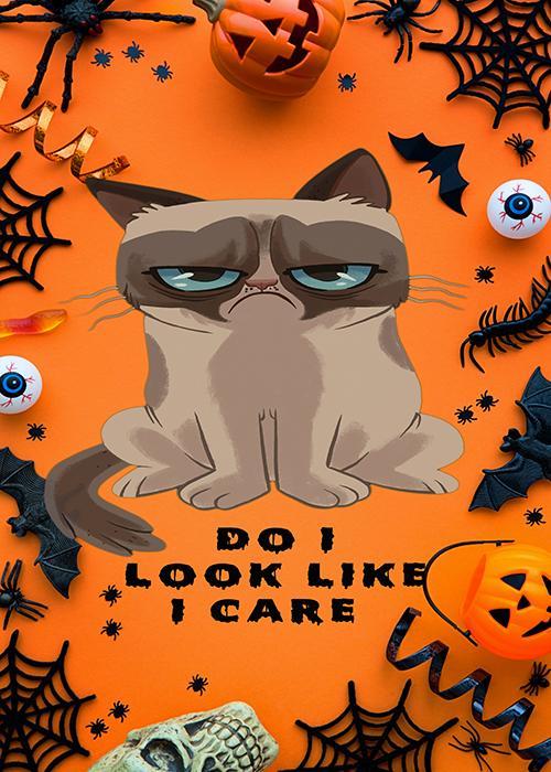 Grumpy Halloween - Doorfoto Door Decor