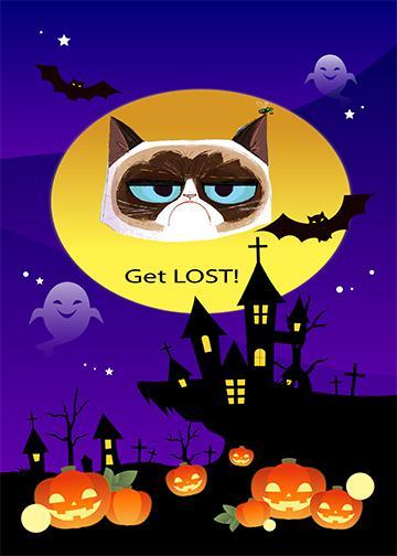 Get Lost Halloween - Doorfoto Door Decor