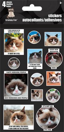 Grumpy Cat Stickers - 4 Sheets