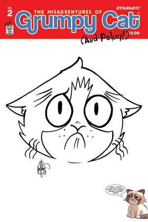 GRUMPY CAT #2 KEN HAESER HAND DRAWN ORIGINAL ART ED