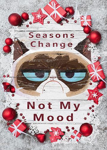 Grumpy Cat Christmas - Doorfoto Door Decor