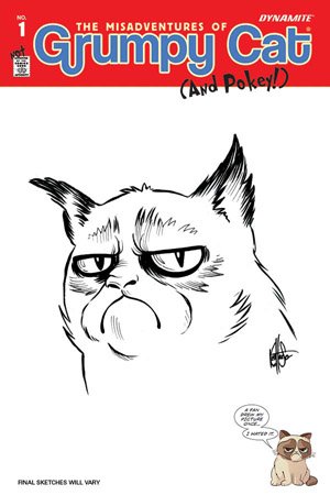 GRUMPY CAT #1 HAESER HAND DRAWN ORIGINAL ART ED