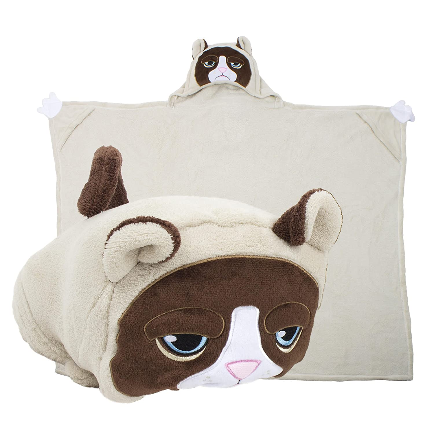 Grumpy Cat Comfy Critters Stuffed Animal Blanket/Huggable Pillow