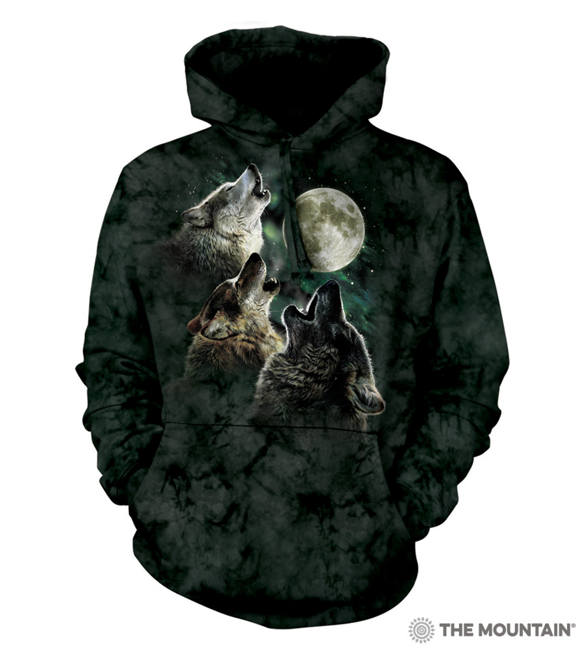 The Mountain Adult Unisex Hoodie Sweatshirt - Three Wolf Moon