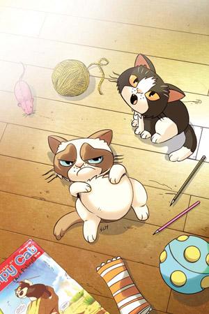 """GRUMPY CAT #3 RARE STEVE UY """"VIRGIN ART"""" EDITION"""