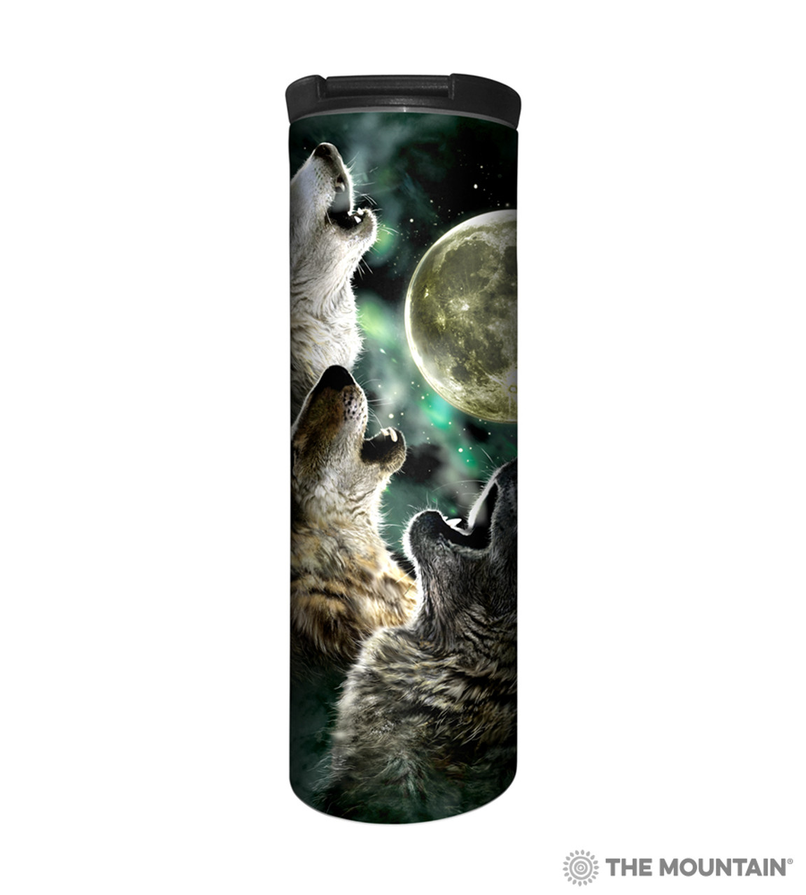 Three Wolf Moon Stainless Steel Travel Tumbler | The Mountain