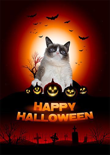 Grumpy Happy Halloween - Doorfoto Door Decor